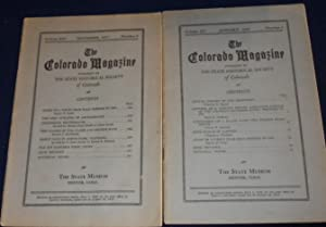 The Colorado Magazine Volume XIV, Number 6, November 1937 and Volume XV, Number 1, January, 1938 ...