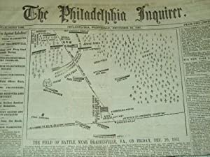 The Philadelphia Inquirer Newspaper, Wednesday, December 25, 1861, The Filed of Battle Near ...