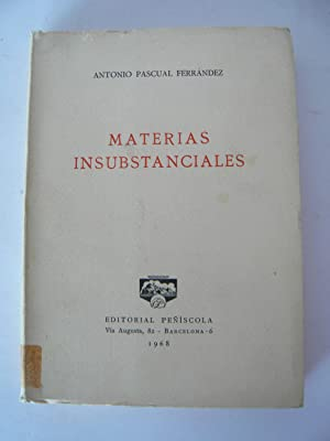 Materias insubstanciales