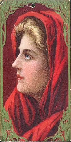 Hood's Sarsaparilla Advertising Card, shows woman with