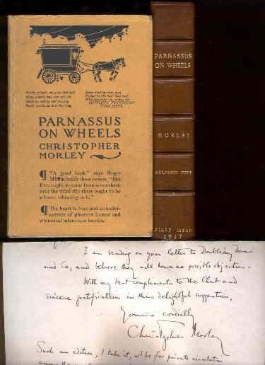 Parnassus on Wheels.[Signed Presentaion copy of the First Edition with 2 ALS/autograph letters...