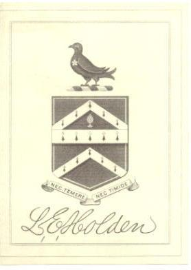 Liberty Emery Holden Bookplate