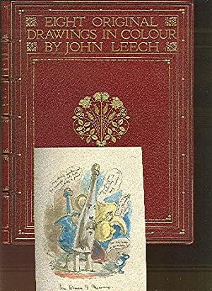 Eight Original Drawings in Colour by John Leech. [Mounted Watercolor Drawings].