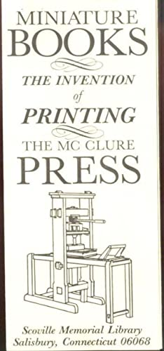 Miniature Books—the Invention of Printing—the McClure Press