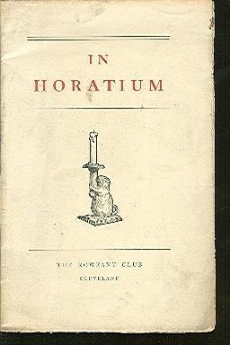 In Horatium [Horace Carr by Benjamin P.: Bourland, Benjamin P.