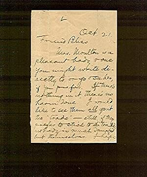 Autograph Letter, Signed: To Elisha P. Bliss,: Twain, Mark (Samuel