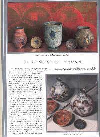 Les Ceramiques de Mayodon. [Color illustrated article: Baschet, Jacques.