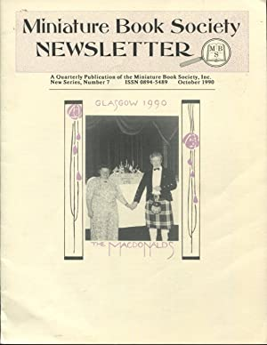 Miniature Book Society Newsletter A Quarterly Publication: Miniature Book Society;