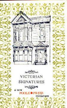 Victorian Signatures: A new Poole Press miniature: Adams, Maryline Poole.