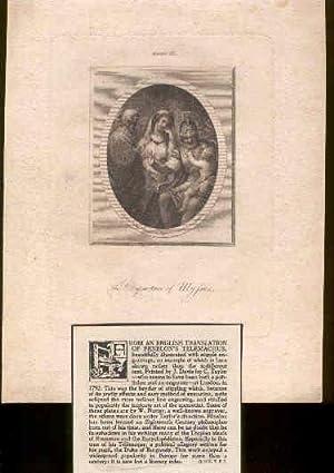 Engraving from Fenelon's Telemachus.: Fenelon & C. Taylor (publisher/engraver).