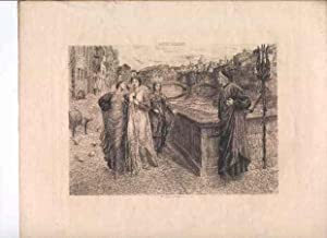 Dante and Beatrice [Photogravure of a Painting].: Holiday, Henry.