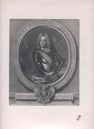 Louis Henri De Bourbon Prince De Conde. [Photomechanical Reproduction of an Engraving].: Gober & P....
