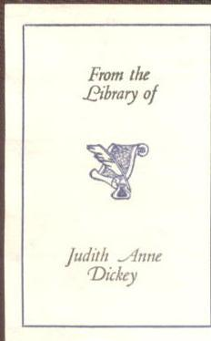 From the Library of Judith Anne Dickey
