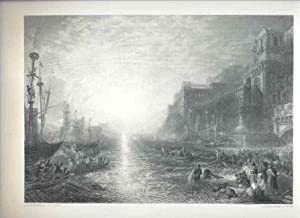 Regulus Leaving Catharge. [Mounted Engraving].: Turner, J. W.