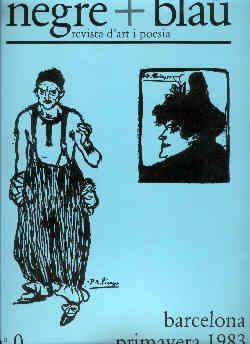 negre + blau revista d'art i poesia.: Tharrats, Joan-Josep &