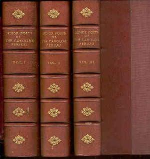 Minor Poets of the Caroline Period; Edited: Saintsbury, George (editor).