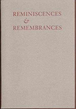 REMINISCENCES & REMEMBRANCES OF HERMAN AND AVEVE: Matz, Jenni (editor)