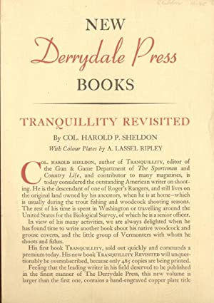 New Derrydale Press Books. Publisher's List with: Sheldon, Harold P.