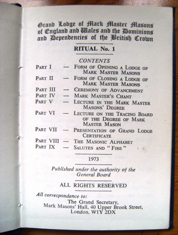 Grand Lodge of Mark Master Masons of England