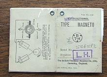 Instructions Type M1 Magneto