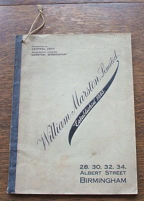 William Marston Limited Motor Trimming Section Catalogue 1922