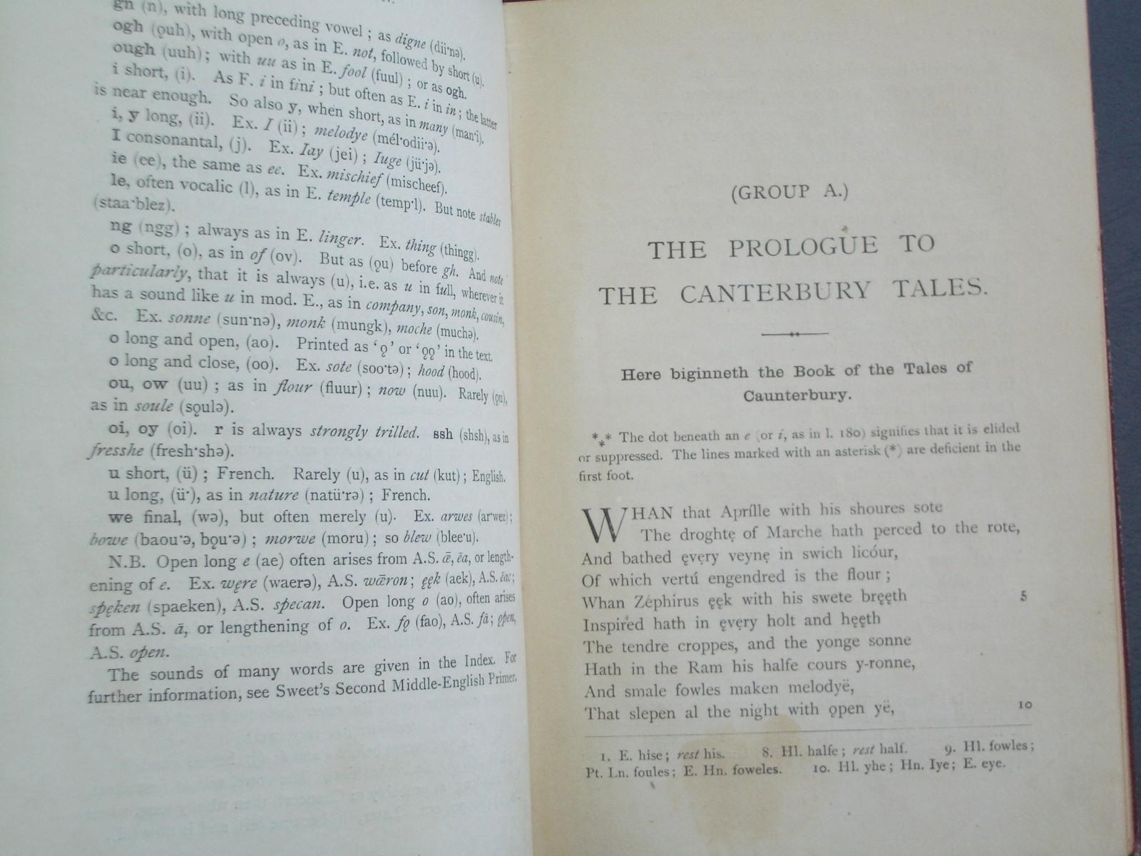 canterbury tales prologue old english