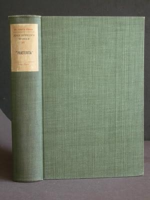 "Praeterita"": Outlines of Scenes and Thoughts, Perhaps: Ruskin, John"