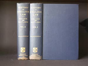 The History of English Law Before the Time of Edward I. [two volume set]