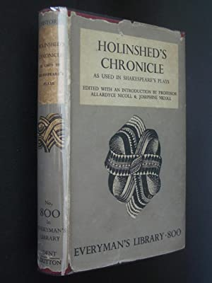 Holinshed's Chronicle as Used in Shakespeare's Plays
