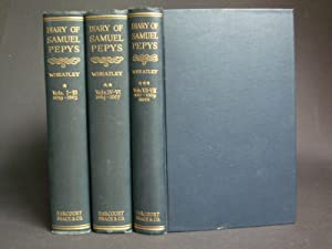 The Diary of Samuel Pepys [complete 8-in-3 volume set]