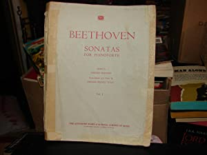 BEETHOVEN (SONATAS FOR PIANOFORTE) Vol 1 (1931)
