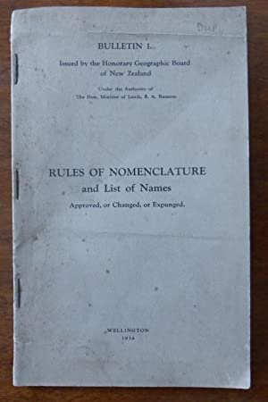 Place-Names in New Zealand, Rules Od Nomenclature: Andersen, Johannes C.