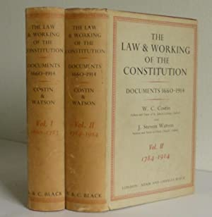 The Law and Working of the Constitution, Documents 1660-1914