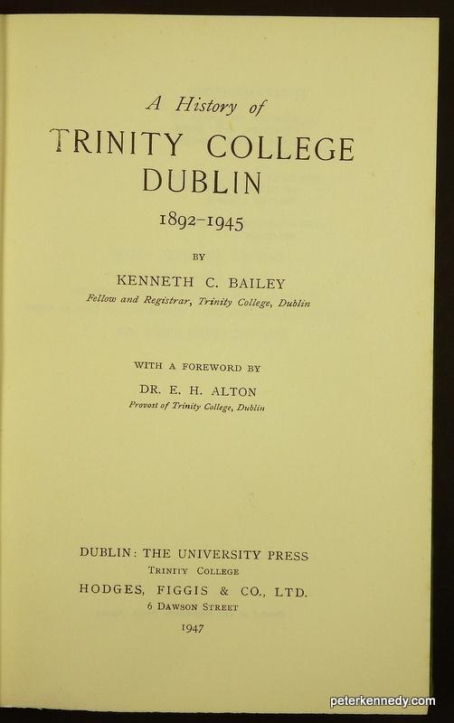 A History of Trinity College Dublin 1892-