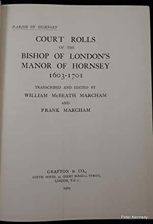 Parish of Hornsey: Court Rolls of the Bishop of London's Manor of Hornsey