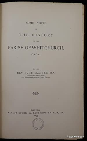 Some Notes of the History of the Parish of Whitchurch, Oxon