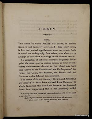 An Account of the Island of Jersey, containing a Compendium of its Ecclesiastical, Civil and Mili...