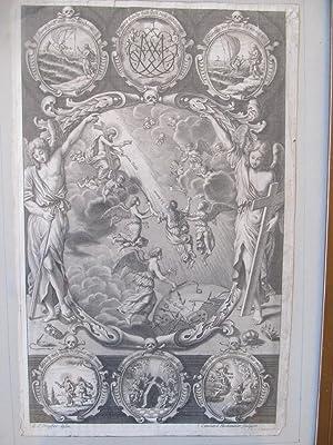 Barocker Kupferstich mit biblischer Szene: Leonhard Heckenauer