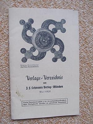Verlagsverzeichnis Mai 1938: J.F. Lehmanns Verlag München