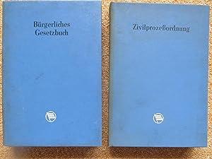 Zivilprozessordnung und Bürgerliches Gesetzbuch (2 Bände): ohne