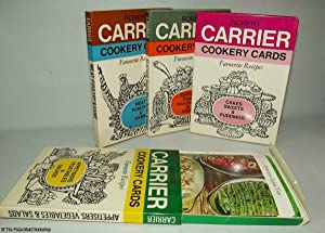 Robert Carrier Cookery Cards: Meat, Poultry & Game; Seafood; Cakes, Sweets & Puddings; ...