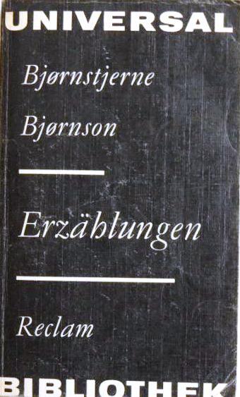 Erzählungen;: Bjornson, Bjornstjerne