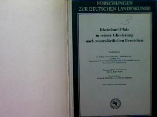 Rheinland-Pfalz in seiner Gliederung nach zentralörtlichen Bereichen: Meynen, Emil: