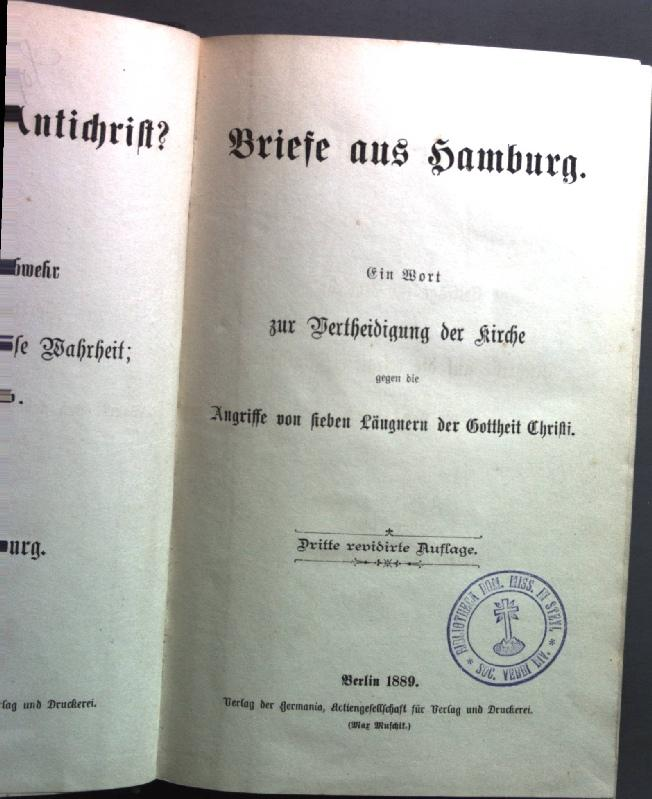 Briefe aus Hamburg. Ein Wort zur Vertheidigung: Gottlieb: