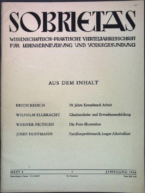 Familienproblematik junger Alkoholiker; in: Heft 4 Sobrietas,: Hoffmann, Josef: