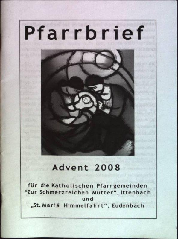 """Pfarrbrief für die Katholischen Pfarrgemeinden """"Zur schmerzreichen: Stark-Wagener, Isabel, Peter"""