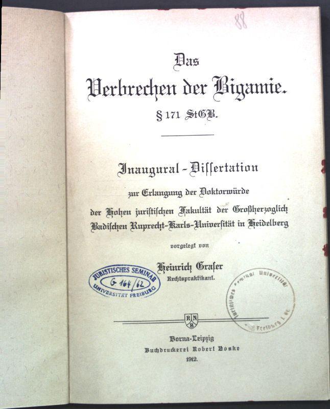 dissertation sur la bigamie