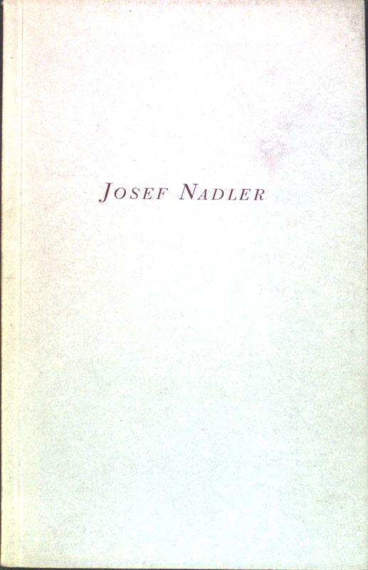 Universitatsprofessor Dr Josef Nadler Zum 75 Geburtstag Gewidmet