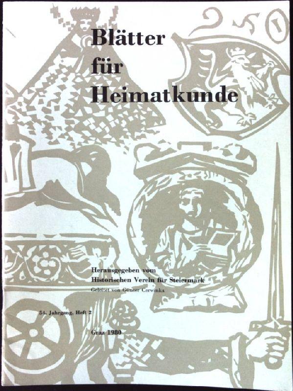 Musiktheater in Graz; in: 54. Jahrgang, Heft: Historischer Verein für