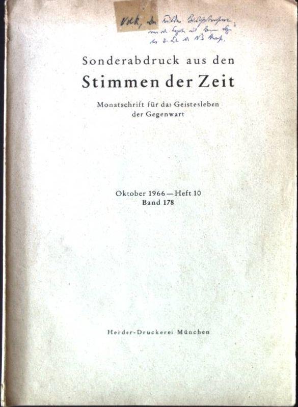 """Die Fuldaer Bischofskonferenz von der Enzyklika """"Mit: Volk, Ludwig:"""